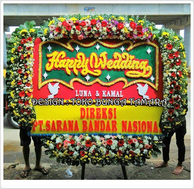 bunga ucapan pernikahan depok