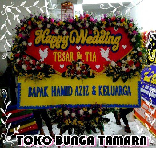 bunga happy wedding depok